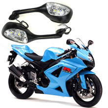 for Suzuki GSXR 600 750 1000 2006-2010 K6 K7 K8 Motorcycle Rearview Rear View Mirrors with LED Turn Signal Light Accessories(China)
