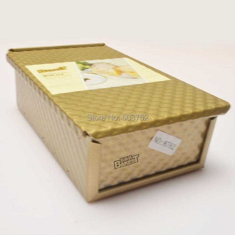 8762 BAKEST антипригарным золотой тост коробка с крышкой горячей продажи выпечки инструмент