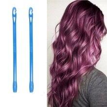 18pcs 45/50/55/65/75cm Plastic Hair Roller Soft Hair Curler Magic Hair Roller Spiral DIY Curls Easy Usage Beauty Supply