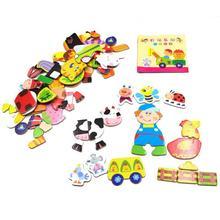 BOHS Farm Animals Magnetic Puzzle Toys for Children Fridge Magnets,Multifunctional Educational