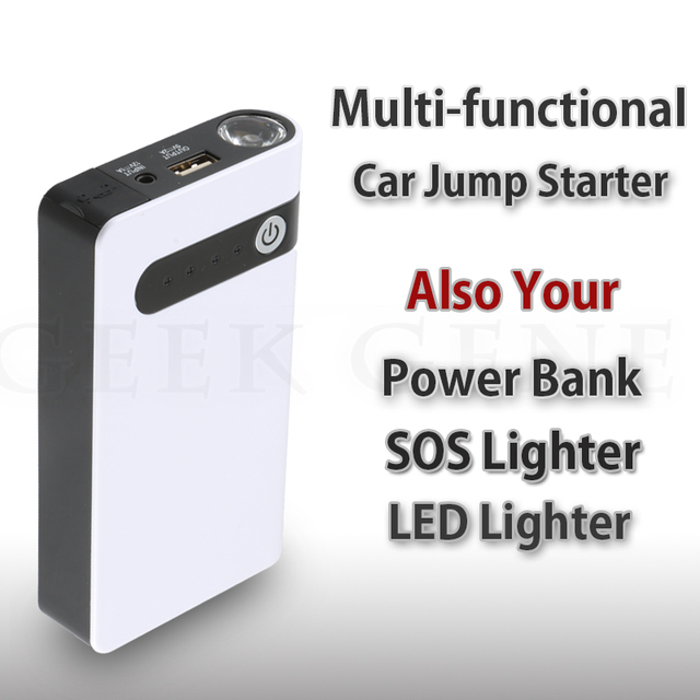 12000mAh Multi-function mini Phone Charger Battery Auto Car Jump Starter Booster Emergency Power Bank SOS light Free shipping