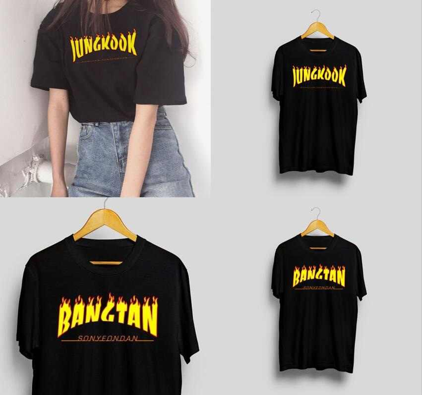 Starqueen-JBH 1PCS korean fashion Kpop  Bangtan Jungkook Thrasher T-shirt Kpop  Bangtan Boys/Kpop Merch