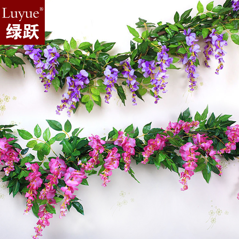 Home Decor Fake Flowers Part - 43: Simulation Wisteria Vine Wall Curd Artificial Flowers Artificial Flowers  Home Decor Silk Flower Vine Free Shipping ...