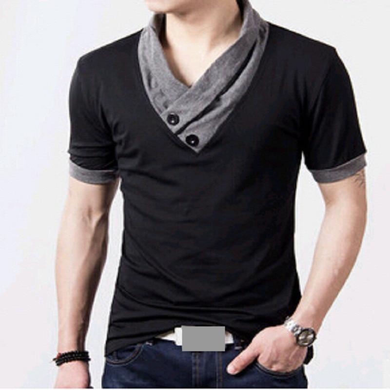 2016 T Shirts Men V Neck T Shirt Brand Cotton Mens ...
