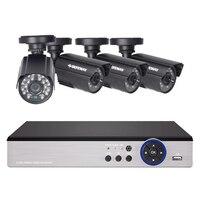 DEFEWAY 8CH система видеонаблюдения 1200TVL Камера видеонаблюдения для дома комплект видеонаблюдения День ночного видения CCTV Домашняя безопасност