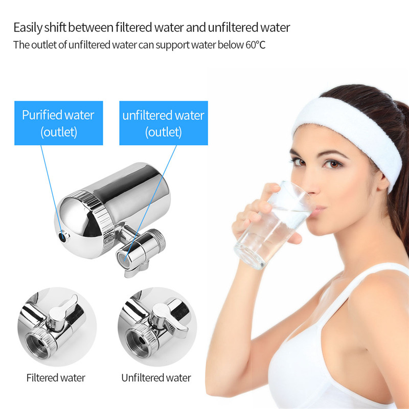 Image 3 - Stainless Steel Faucet Water Filter Mineral Stone Tap Water Purifier Kitchen Tap Water Filter Rust Removal Washable Filter 31-in Water Filters from Home Appliances