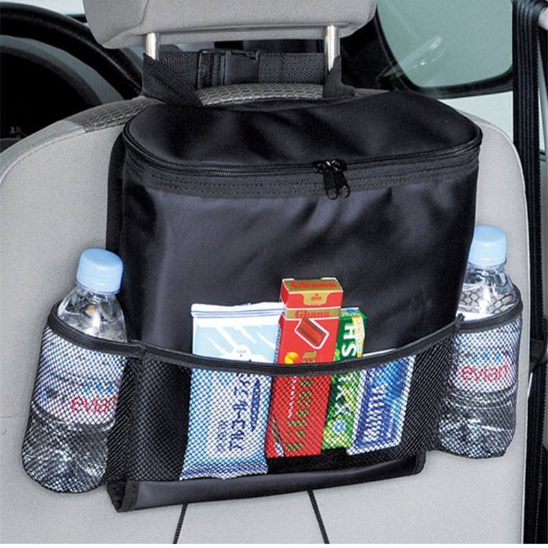 Multifunction Car Seat Organizer Mum Bag Oxford Waterproof Baby Feeding Bottle Cover Thermal Bag Tissue Box Storage Hanging Bags