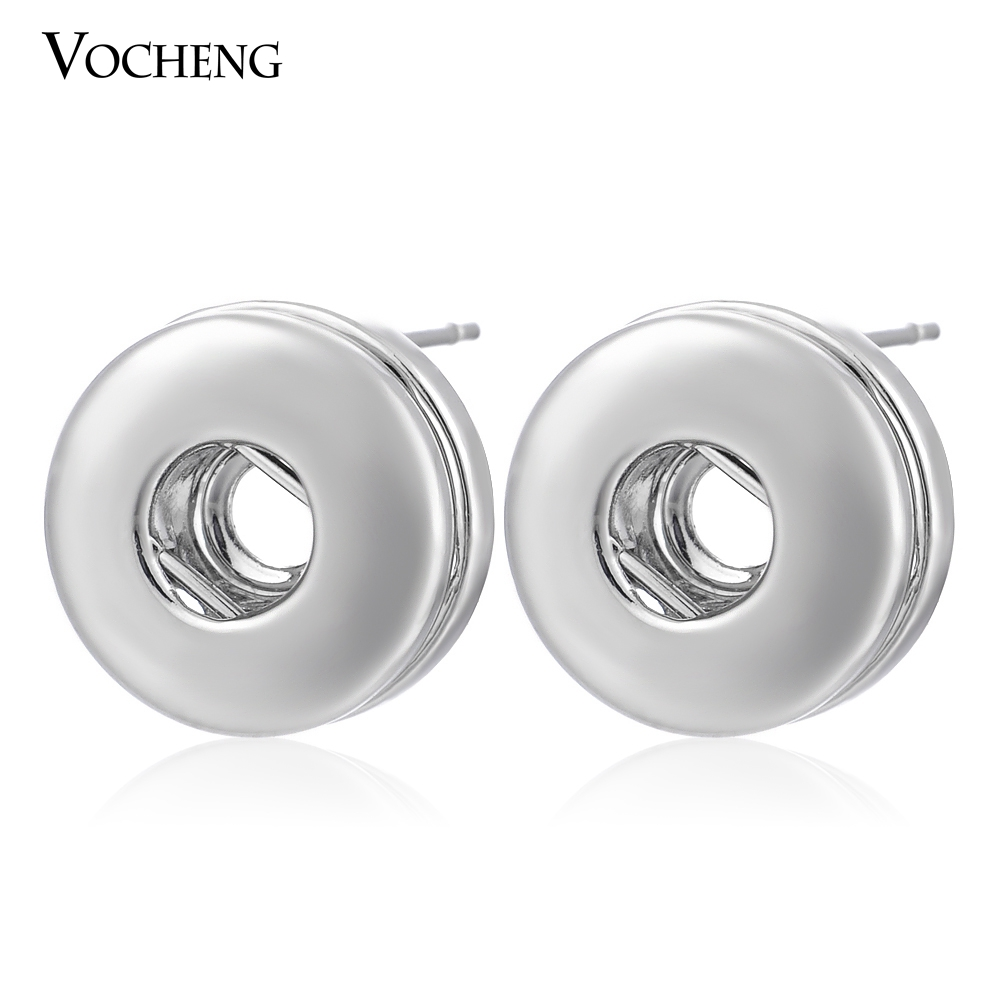 Wholesale 10PCS/Lot 12mm Small Snap Button Fashion Women Earring VK-002*10 image