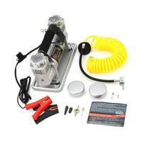 12V Air Compressor for Cars SUV Trucks High Pressure Air Pump with Twin Cylinder Heavy Duty Auto Tyre Electric Inflator Pump