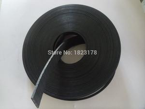 Image 2 - 27 meter P2 Flache Gürtel Breite 25mm Dicke 2mm farbe schwarz Polyurethan mit Stahl core für Fitness Ausrüstung