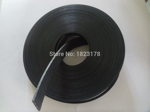 Image 2 - 27Meters P2 Flat Belt Width 25mm Thickness 2mm color black Polyurethane with Steel core for Fitness Equipment