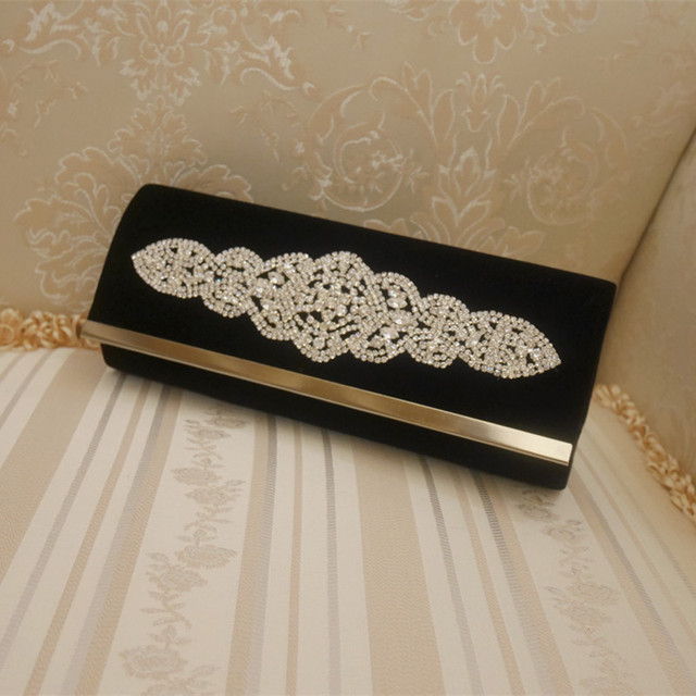 2017 Popular Crystal Wedding Ladies Shoulder Bag Party Prom Evening Clutch Bag Handbag Gift Elegant Women Wallet Bag