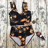 Size Bikini Set High Neck Bikini Women S Swimsuits Large Size Print Swimwear Bathing Suit 2018
