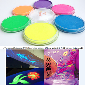 Image 3 - Neon Body Face Paint 6 Colors Glow Fluorescent Makeup Pigment Model Painting Body Art Tattoo for Halloween Maquiagem UV Painting
