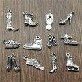 20 шт. / Лот, подвески для обуви, античное серебро, высокие каблуки, подвески для обуви, подвески для браслетов, коньков, подвески, изготовление...