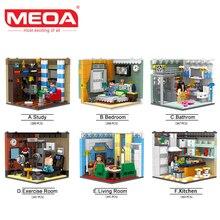 MEOA XINGBAO 01401 Élő ház készletek építőelemek duplo tégla Gyerekek oktatási játékok gyerekeknek Fiúk lányok Ajándékok