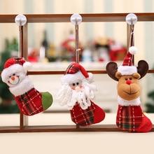 3pcs/lot New Year Christmas pendants Santa sock pendant Santa Claus doll pendant birthday Party Halloween Home product Hot AB302 недорого