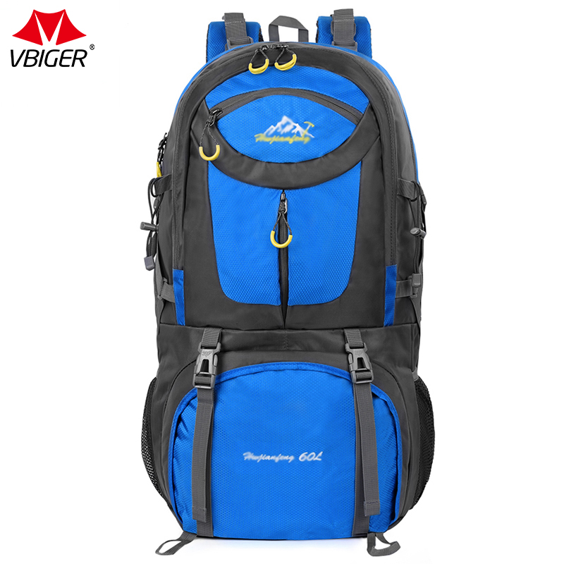 Vbiger 60L Large Capacity Travel Backpack Waterproof Backpack Daypack High Quality Oxford Cloth Casual Bags For Travel People