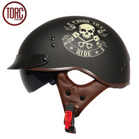 DOT Cruiser Motorcycle Helmet Harley Open Face Half Vintage Helmet T5548 Moto Casque Casco Motocicleta Capacete