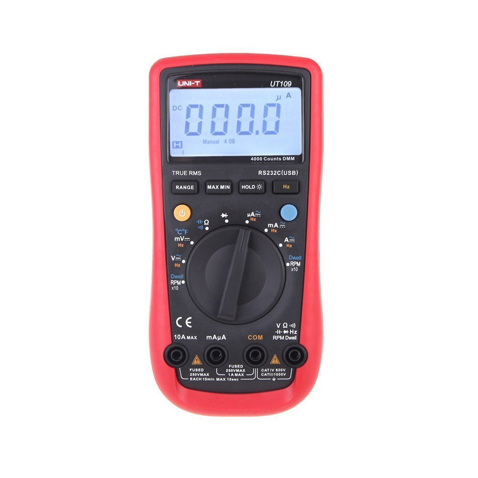 UNI-T UT109 Auto-Range Automotive Multi-Purpose Meter Automotive Multimeter Tester with Dwell-Tach/RPM Measurement цена