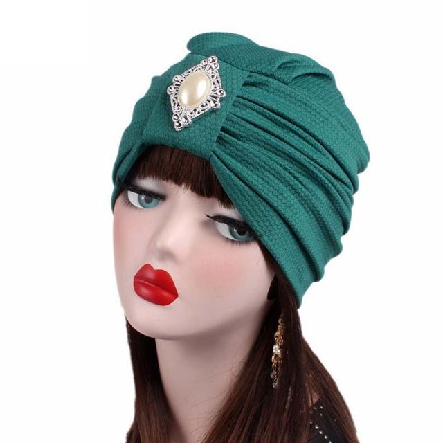 88016d62be7 Haimeikang Women Vintage Turban for Women Beanie Hats Headwraps 1920s  Gatsby Cap Flapper Hat Twist Pleated