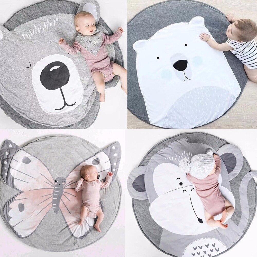 Baby Mat Blanket Elephant Props Crawling Cushion Room Infant Game Decor Print