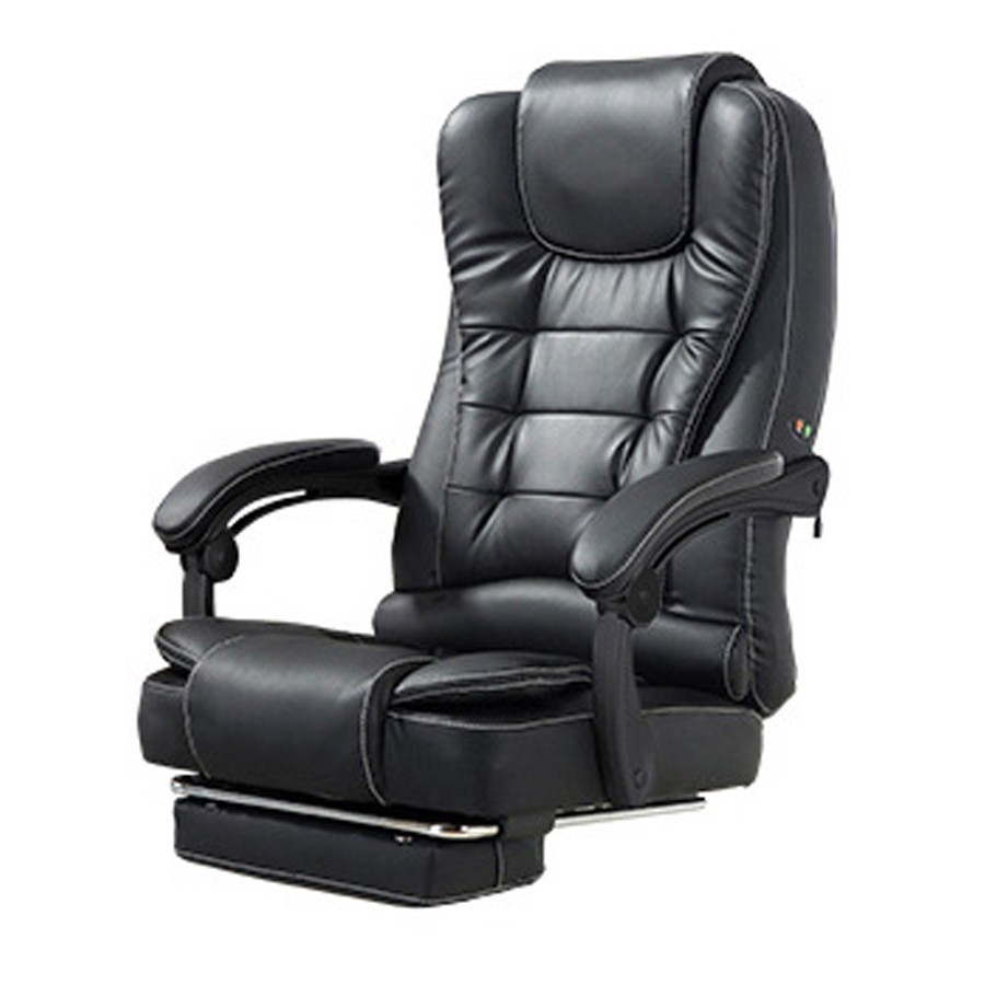 High Quality Boss Poltrona Gaming Massage Chair Can Lie With Footrest Ergonomics Synthetic Leather Office Furniture Steel Feet
