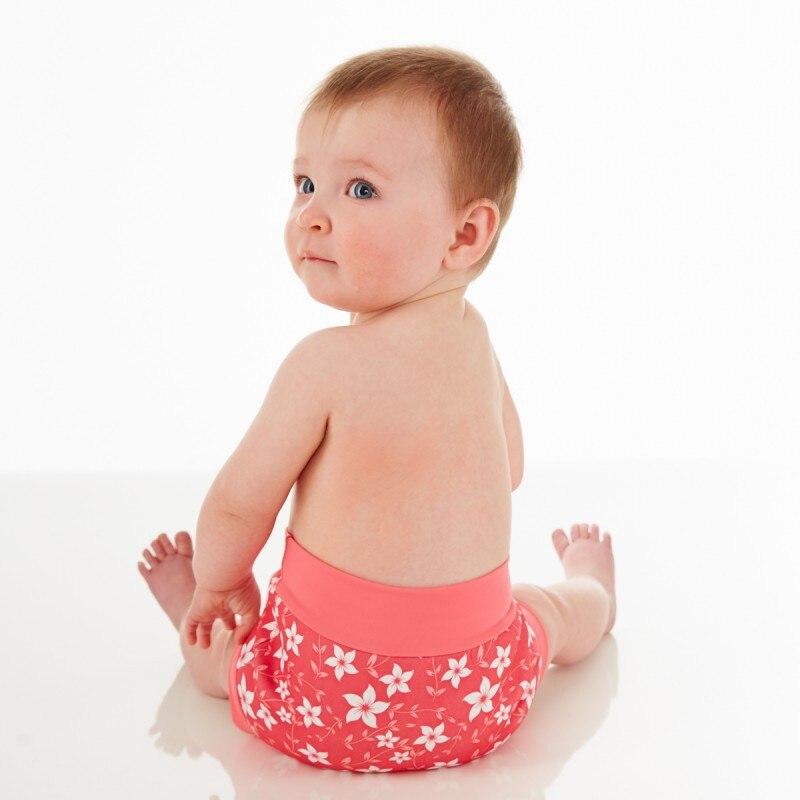 Infant Children Leakproof Swimming Nappies Newborn Baby High Waist Swimming Trunks Baby Boys Girls Cartoon Printed