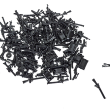 100pcs/lot Scale Model Building Blocks DIY Military Series Police Gun Children Gift Toys