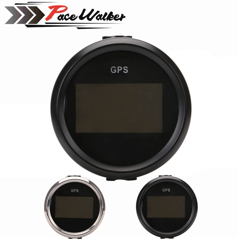 2 '' (52mm) Digital GPS Speedometer Odometer For Car Boat With Backlight 12V / 24V 100% brand new gps speedometer 60knots for auto boat with gps antenna white color