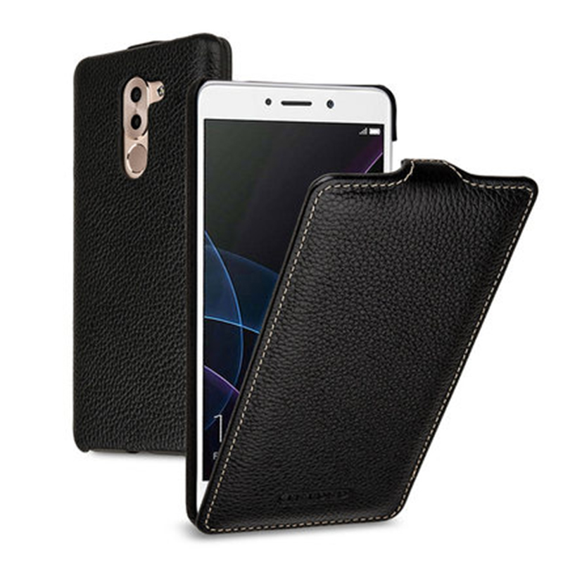 Fashion Up Down Flip Case Genuine Leather Flip Case for Huawei Honor 6X 5.5inch Handmade Phone Cover Accessories Bag+Free Gift