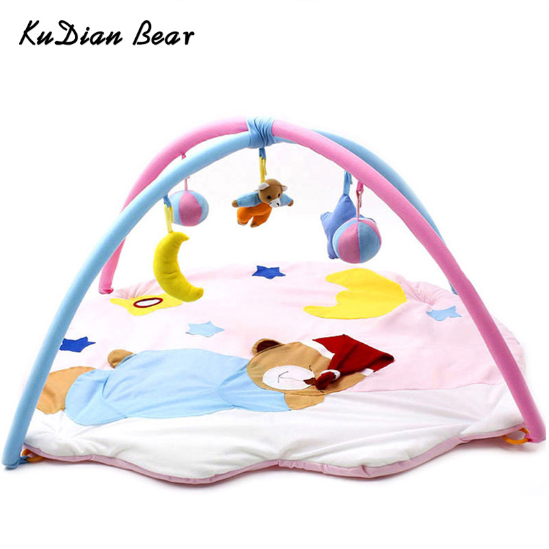 KUDIAN BEAR Baby Play Mat Tapete Infantil Toys Sleeping Bear Educational Crawling Mat Play Gym Carpet Puzzle Playmat BYC154 PT49 цена 2017
