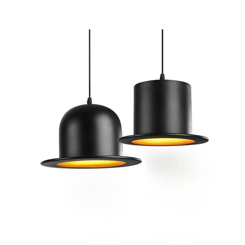 Modern Attractive Pendant Lamps Nice Look Pendant Lights England Hat Lamp Coffeeshop Bar Bedroom Lights E27 Indoor Lights