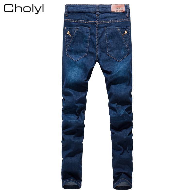 Jeans Mannen 2017 Nieuwe Mode Koreaanse Stijl Hoge Straat Slim Fit - Herenkleding - Foto 2
