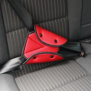 Image 4 - Onever車トライアングル安全ベルト固定器カバーパッド用ベビーキッズシートベルトアジャスター子ネックショルダーハーネスストリッププロテクター
