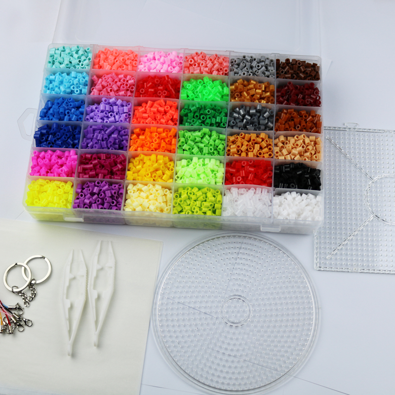 aliexpress com buy 5mm hama beads 36 colors 12 000pcs box set 1 aliexpress com buy 5mm hama beads 36 colors 12 000pcs box set 1 big template 5iron papers 2tweezers fuse perler beads diy educational toys craft from