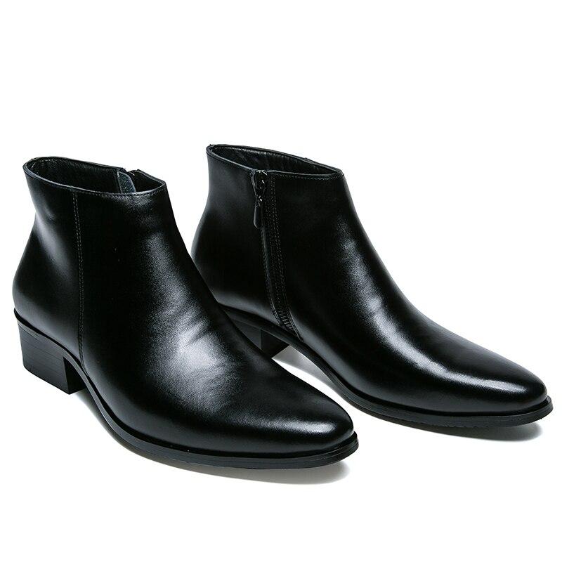 En Noir Hommes Bottes Brogues Martin Up Slip De Bottes On lace hiver Véritable Chelsea Cheville 2017 Printemps Chaussures Style Mode Cuir Britannique Occasionnels fxq7wXvF