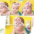 1 PC Bonito Do Bebê Menina Headband Do Cabelo Flor Lace + Gauze Bonita Fita Do Cabelo Da Mantilha