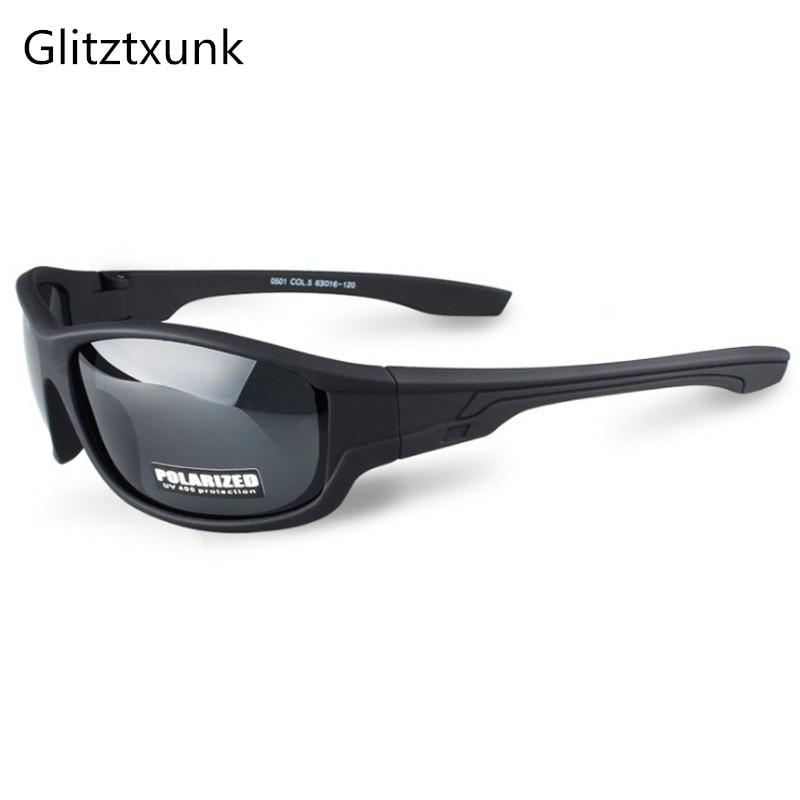 Glitztxunk 2018 New Black Polarized SunGlasses Men Sport Sunglasses UV400 Outdoor Driving Fishing Eyewear Fashion Goggles