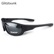 Glitztxunk 2018 New Black Polarized SunGlasses Men Sport Sun