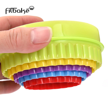 FILBAKE Five-piece Round Plastic Mold Cookie Vegetable Fruit Cutting Kitchen Baking Tools Accessories Stamp