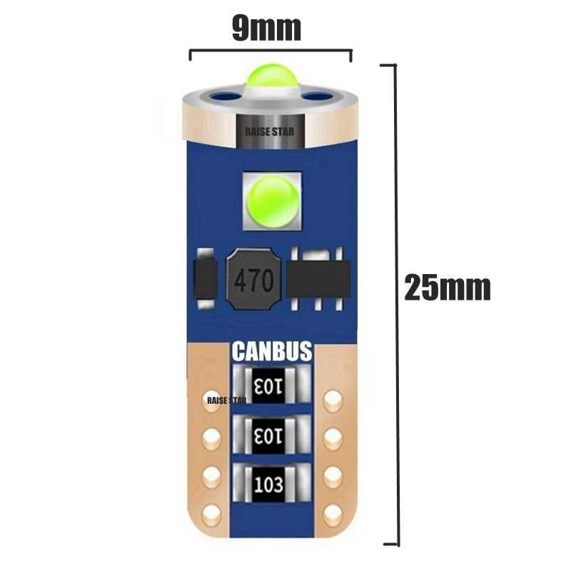 T10 W5W WY5W haute qualité Cree puce LED Source de lumière de stationnement de voiture Canbus aucune erreur lecture automatique dôme lampe cale queue côté ampoule