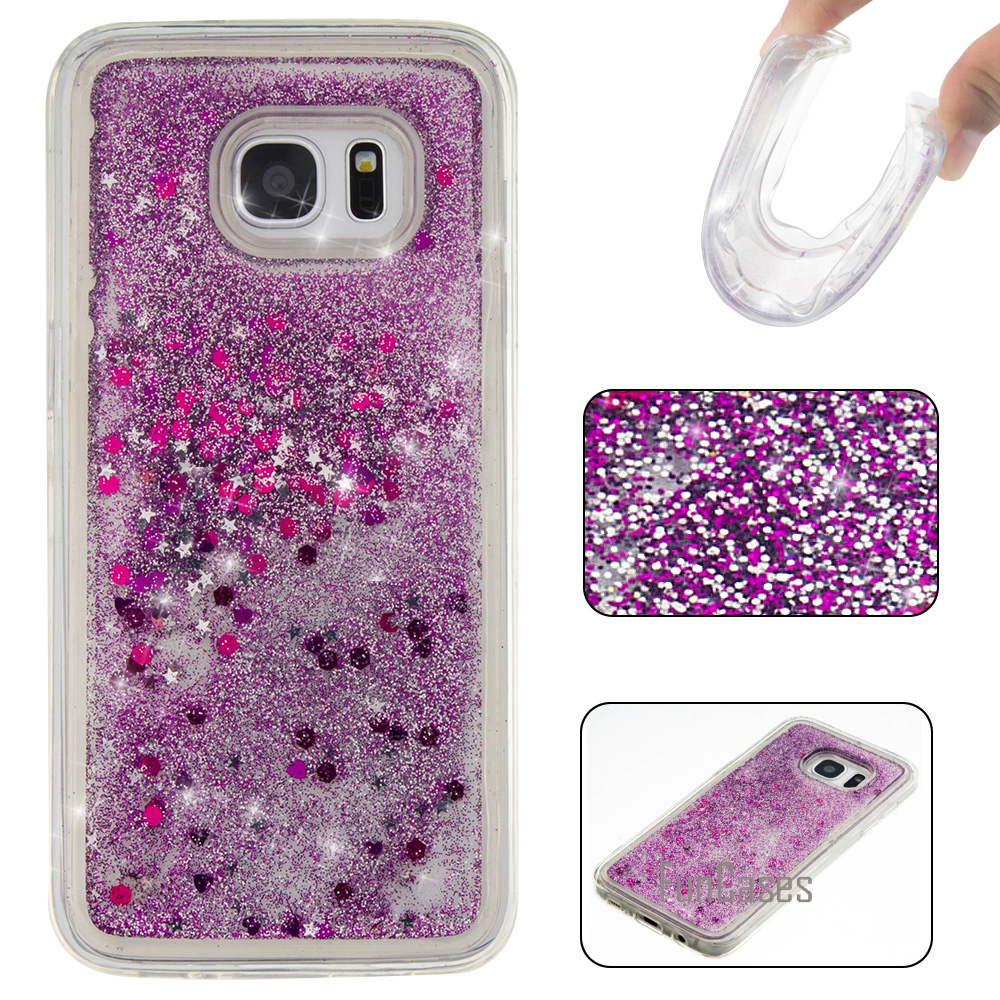 Colorful Paillette Quicksand Case for coque Samsung S7 Edge Case 5.5 inch for fundas Samsung Galaxy S7 Edge Case Quicksand Cover