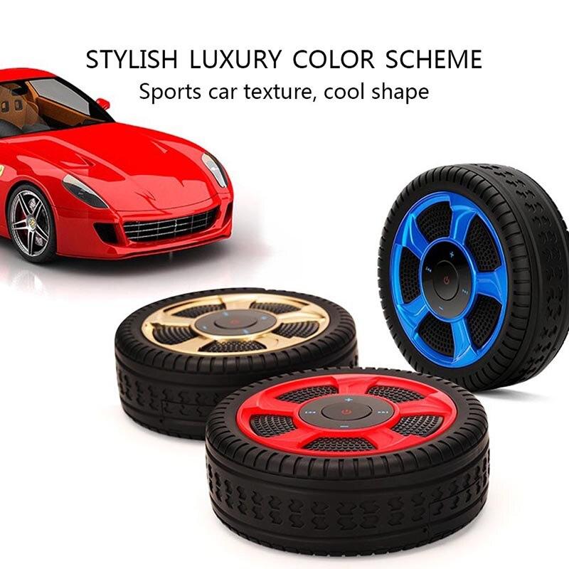 Portable en plastique pneu sans fil Bluetooth 4.2 haut-parleur TF carte Support AUX Audio Subwoofer GDeals