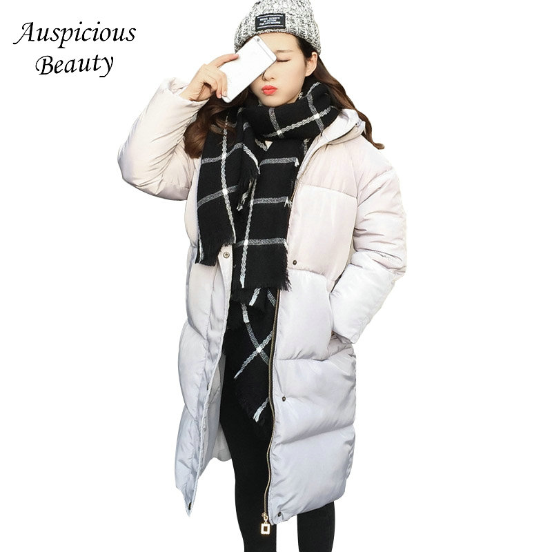 2017 Women Warm Winter Coat Jacket Women Coat Parka Hooded Thick Long Overcoat Cotton Soft Parkas Lady Coats Jackets QJW95 jolintsai winter coat jacket women warm fur hooded woman parkas winter overcoat casual long cotton wadded lady coats