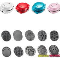 220V Multifunctional Electric Waffle Machine Household Cake Donut Fish Waffle Machine 4 Color Available 10 Plates Available