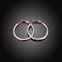 Brand Charm Ball Crystal Stud Earrings 35 X 2mm For Women Rose Gold Platinum Gold Trendy