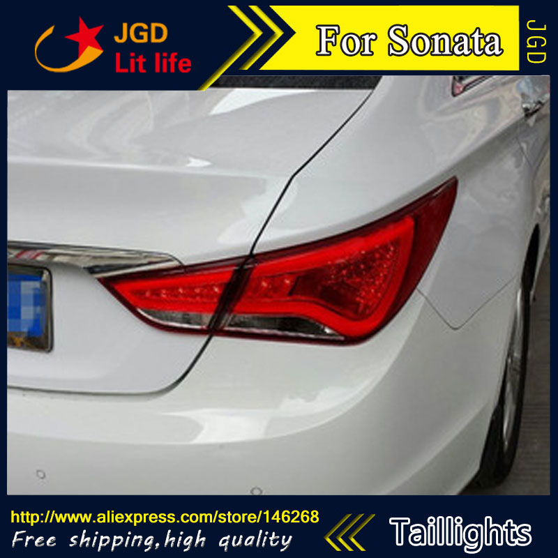 Car Styling tail lights for Hyundai Sonata LED Tail Lamp rear trunk lamp cover drl+signal+brake+reverse car styling tail lights for hyundai santa fe 2007 2013 taillights led tail lamp rear trunk lamp cover drl signal brake reverse