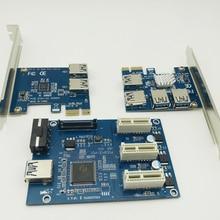 PCI E 1 to 2 / 3 / 4 PCI express 1X slots Riser Card Mini ITX to external 3 PCI-E slot adapter PCIe Port Multiplier Card VER005