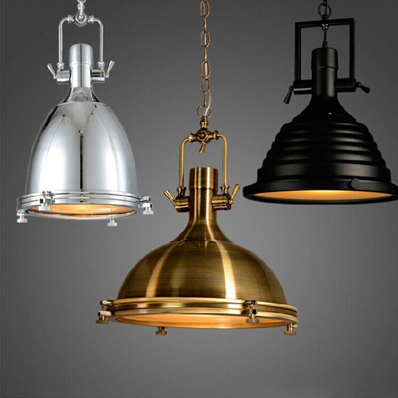 Ledream e27 90-260 v magia do vintage pendurado luz industrial loft ferro droplight preto/ouro/silve clássico moderno conduziu a lâmpada pendente